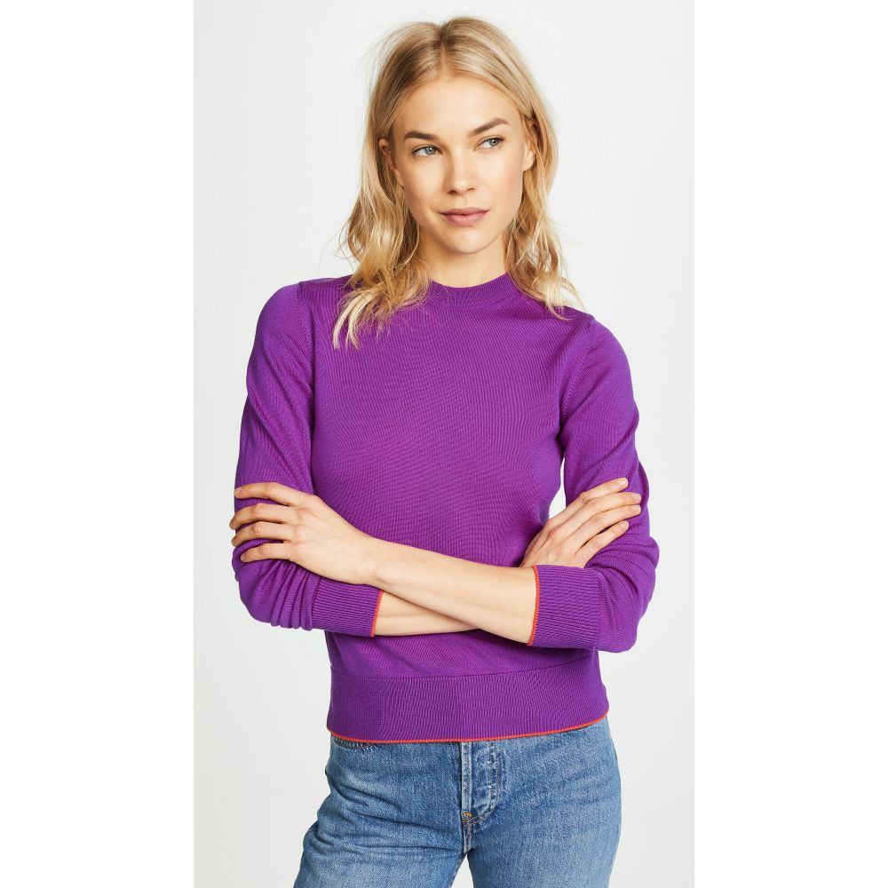 ヴェルサーチ レディース トップス ニット・セーター【Crew Neck Sweater】Purple