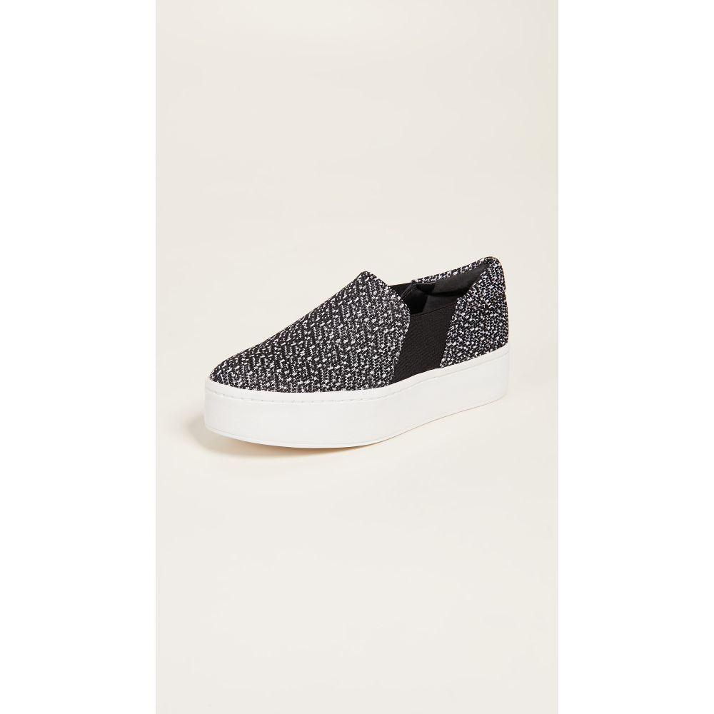 ヴィンス レディース シューズ・靴 スリッポン・フラット【Warren Slip On Sneakers】Black/White
