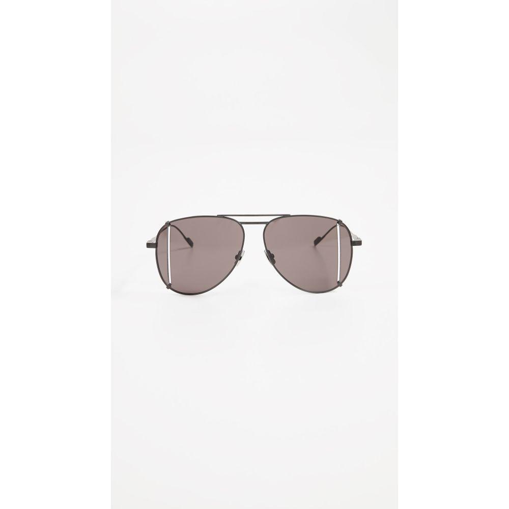 イヴ サンローラン レディース メガネ・サングラス【SL 193 Aviator Sunglasses】Black/Solid Grey