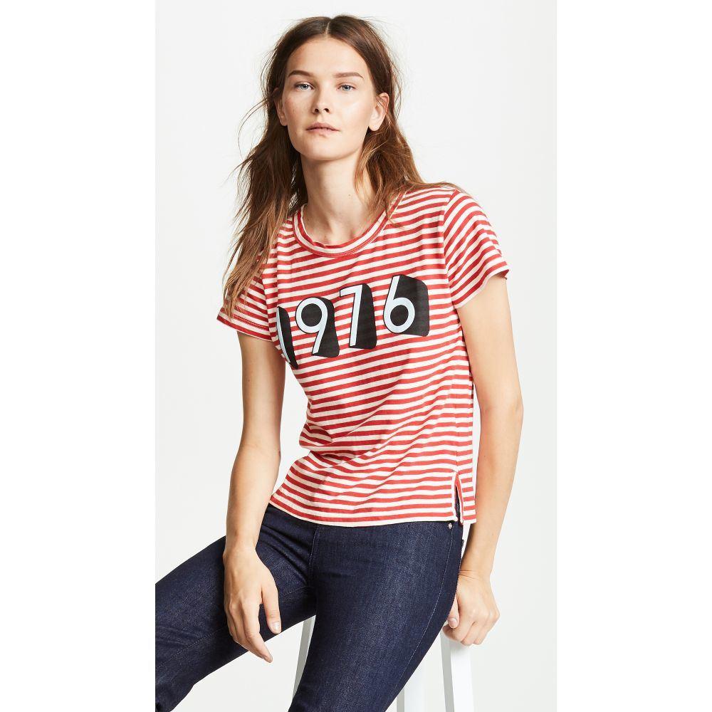 カレント エリオット レディース トップス Tシャツ【Boy Tee】Red White Stripe