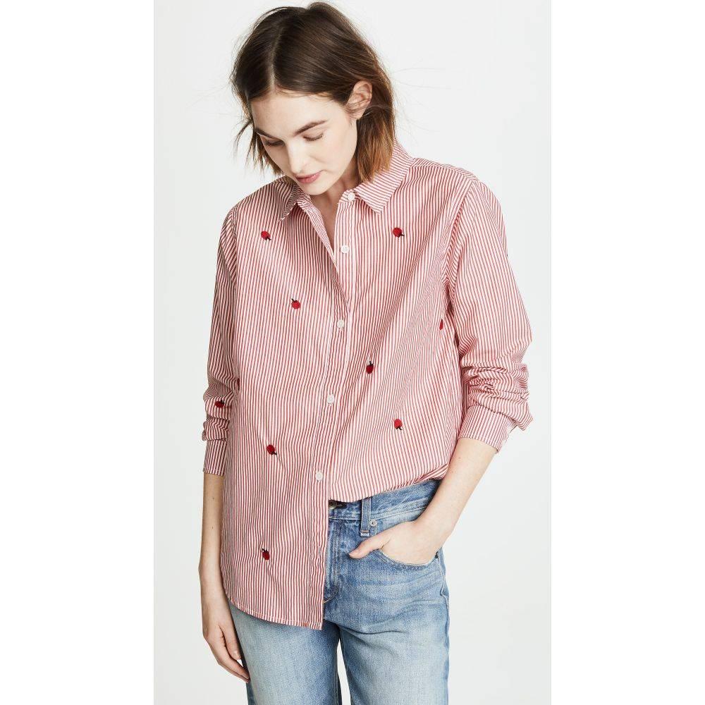 ザ グレート レディース トップス ブラウス・シャツ【The Campus Shirt】Poppy Stripe with Apple
