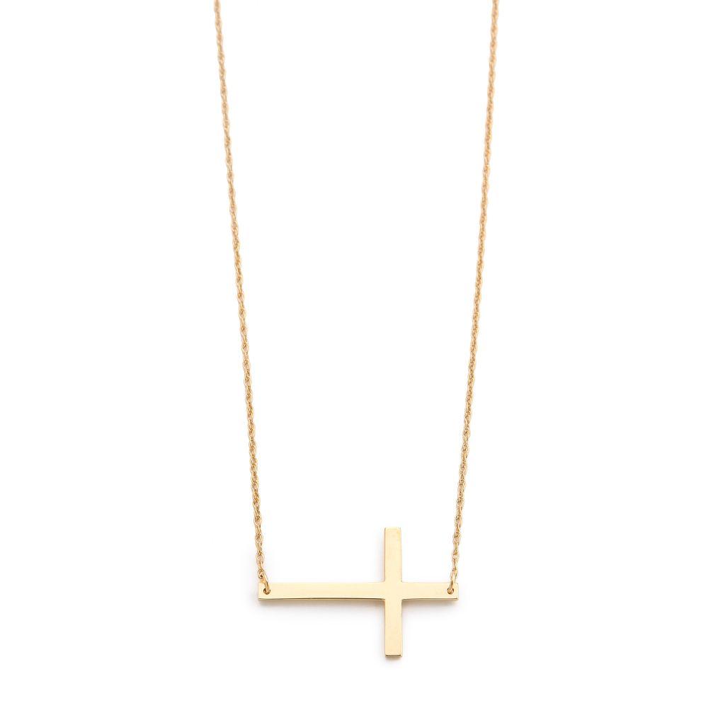 ジェニファーズーナー レディース ジュエリー・アクセサリー ネックレス【Horizontal Cross Necklace】Gold