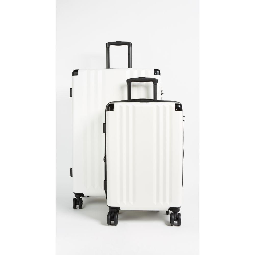 カルパック レディース バッグ スーツケース・キャリーバッグ【Ambeur 2 Piece Set】White