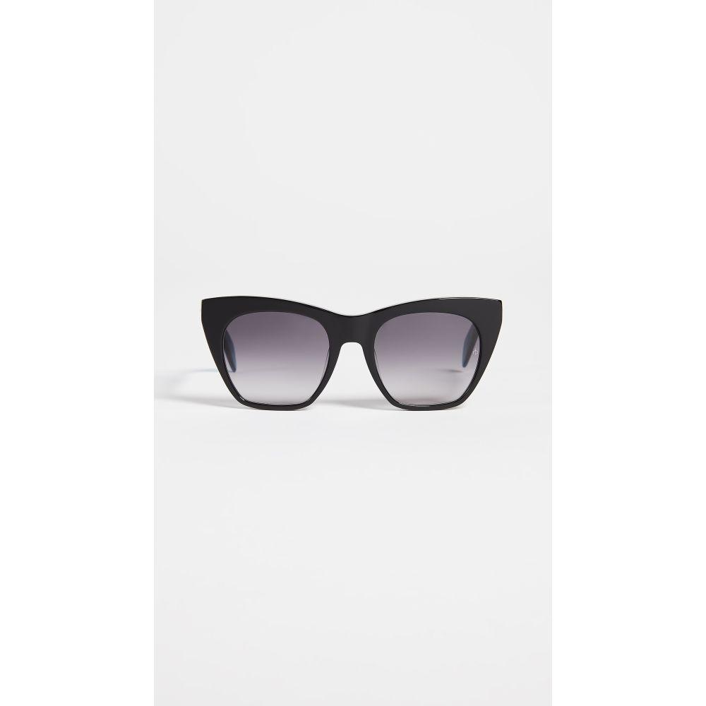 ラグ&ボーン レディース メガネ・サングラス【Thick Cat Eye Sunglasses】Black Blue/Dark Grey Gradient