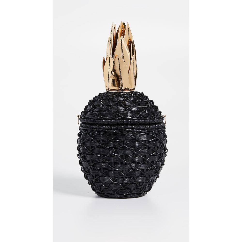 セルプイマリー レディース バッグ クラッチバッグ【Pineapple Wicker Clutch】Black
