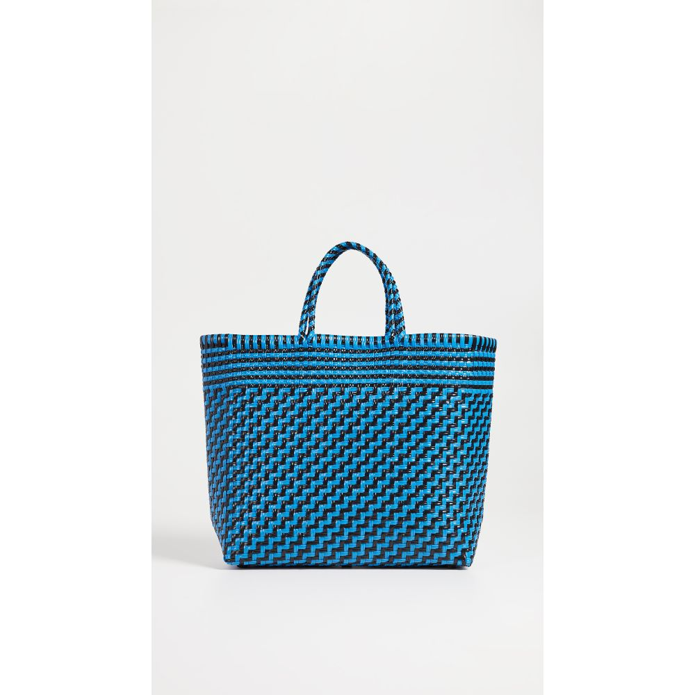 トラス レディース バッグ トートバッグ【Medium Handwoven Tote Bag】Black/Blue