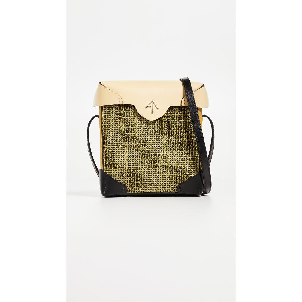 マニュ アトリエ レディース バッグ ショルダーバッグ【Mini Pristine Combo Tweed Box Bag】Pistachio/Yellow/Black