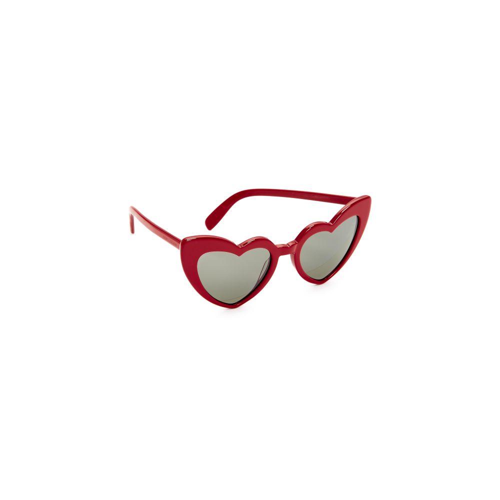 イヴ サンローラン レディース メガネ・サングラス【SL 181 Lou Lou Hearts Sunglasses】Red/Grey