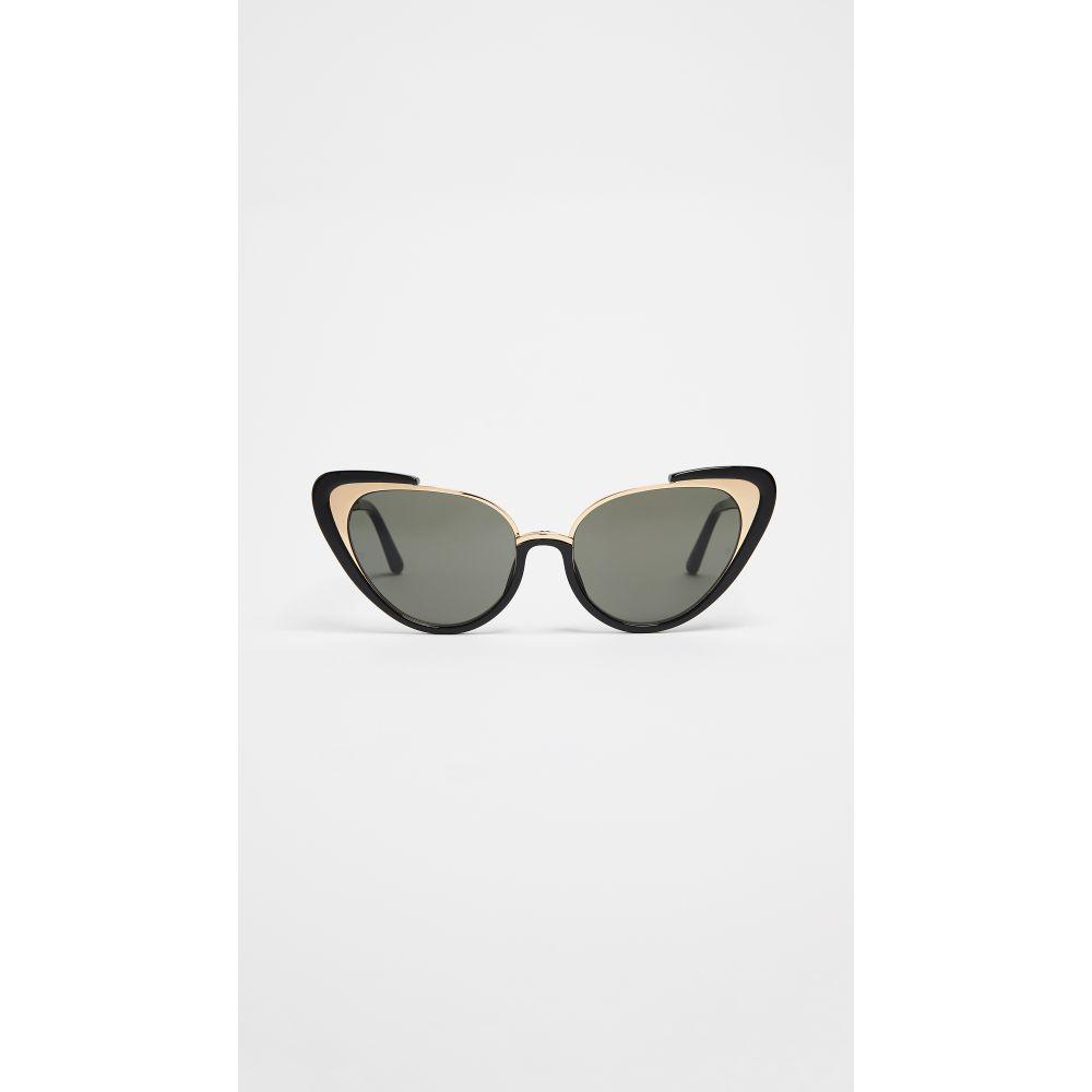 リンダ ファロー レディース メガネ・サングラス【Extreme Cat Eye Sunglasses】Black/Grey