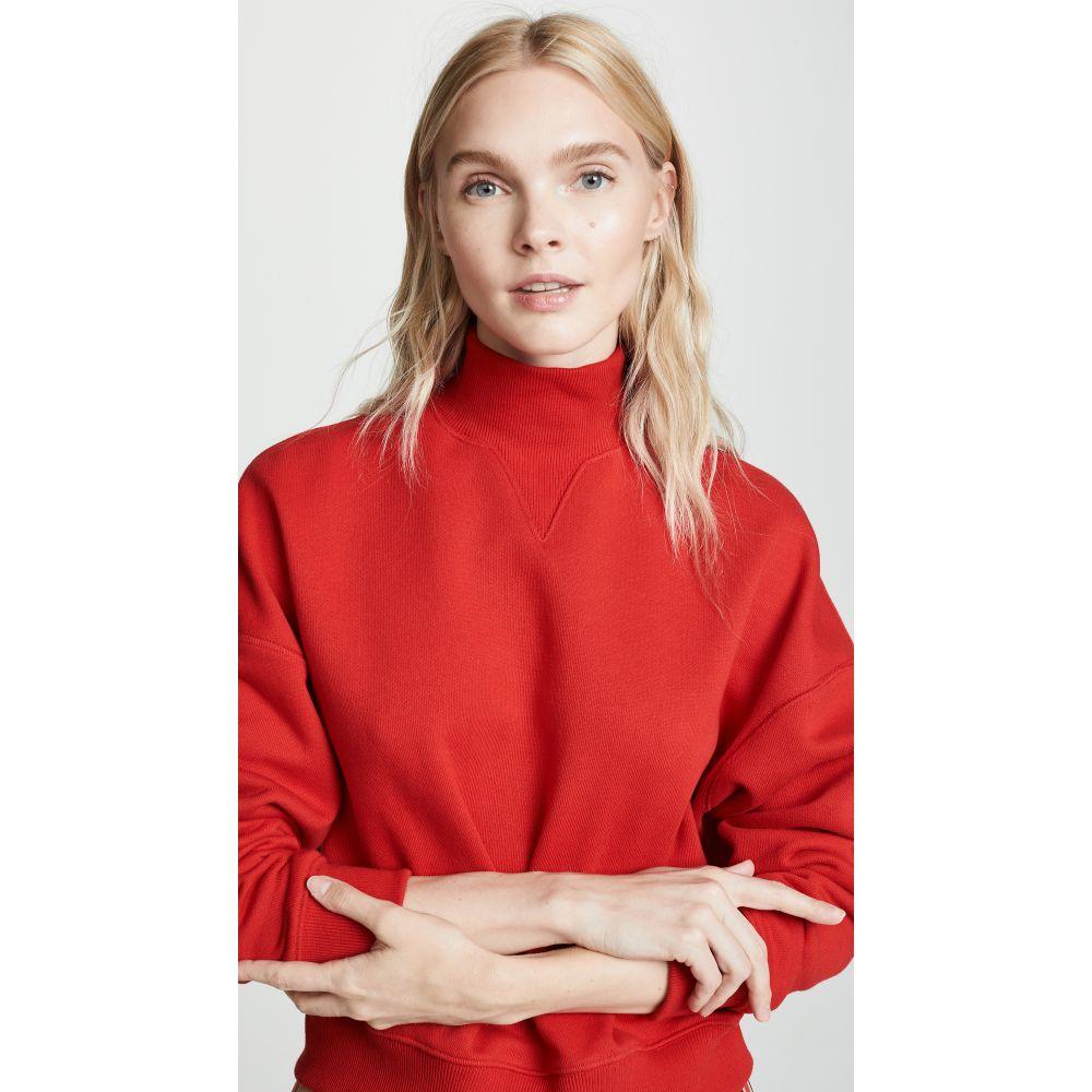 ゴエンジェイ レディース トップス スウェット・トレーナー【High Neck Sweatshirt】Red