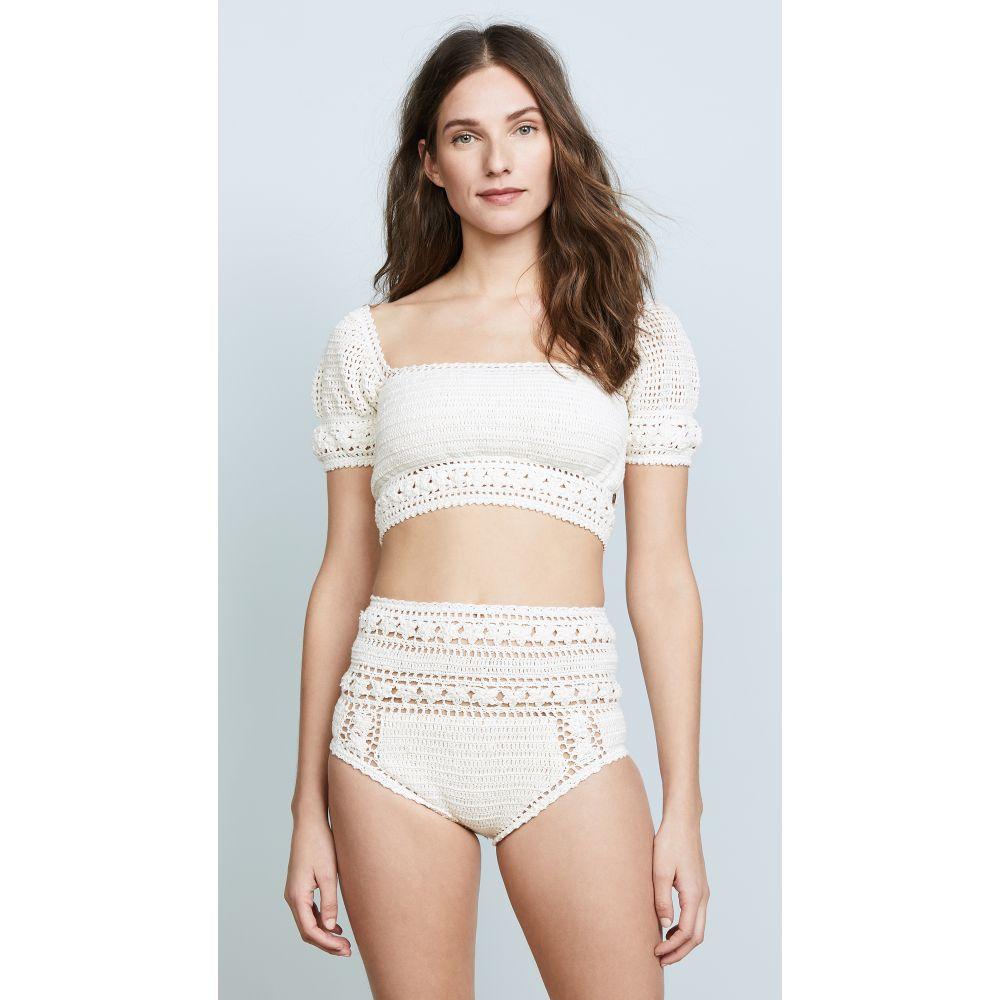 シー メイド ミー レディース 水着・ビーチウェア トップのみ【Rose Crochet Crop Bikini Top】Natural