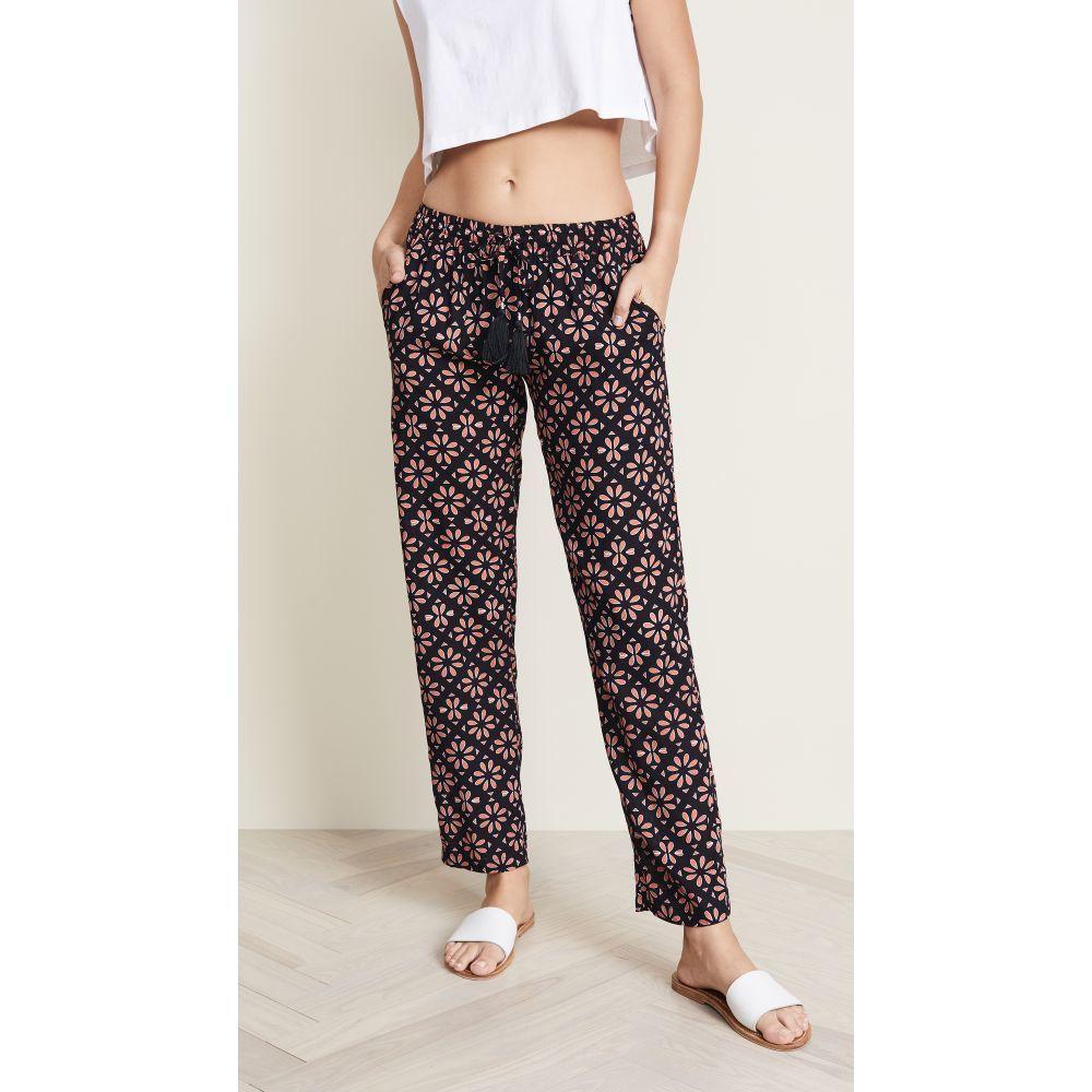 ティアレ ハワイ レディース 水着・ビーチウェア ビーチウェア【Piper Pants】Spanish Tiles Black/Brown