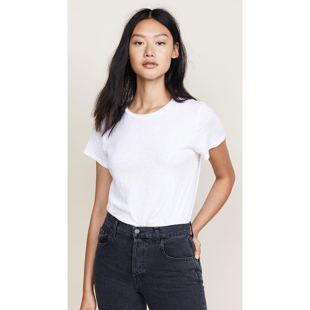 セブン フォー オール マンカインド レディース トップス Tシャツ【Slub Basic Tee】White