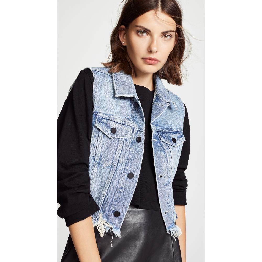 アレキサンダー ワン レディース トップス ベスト・ジレ【Cropped Vest】Vintage Light Indigo