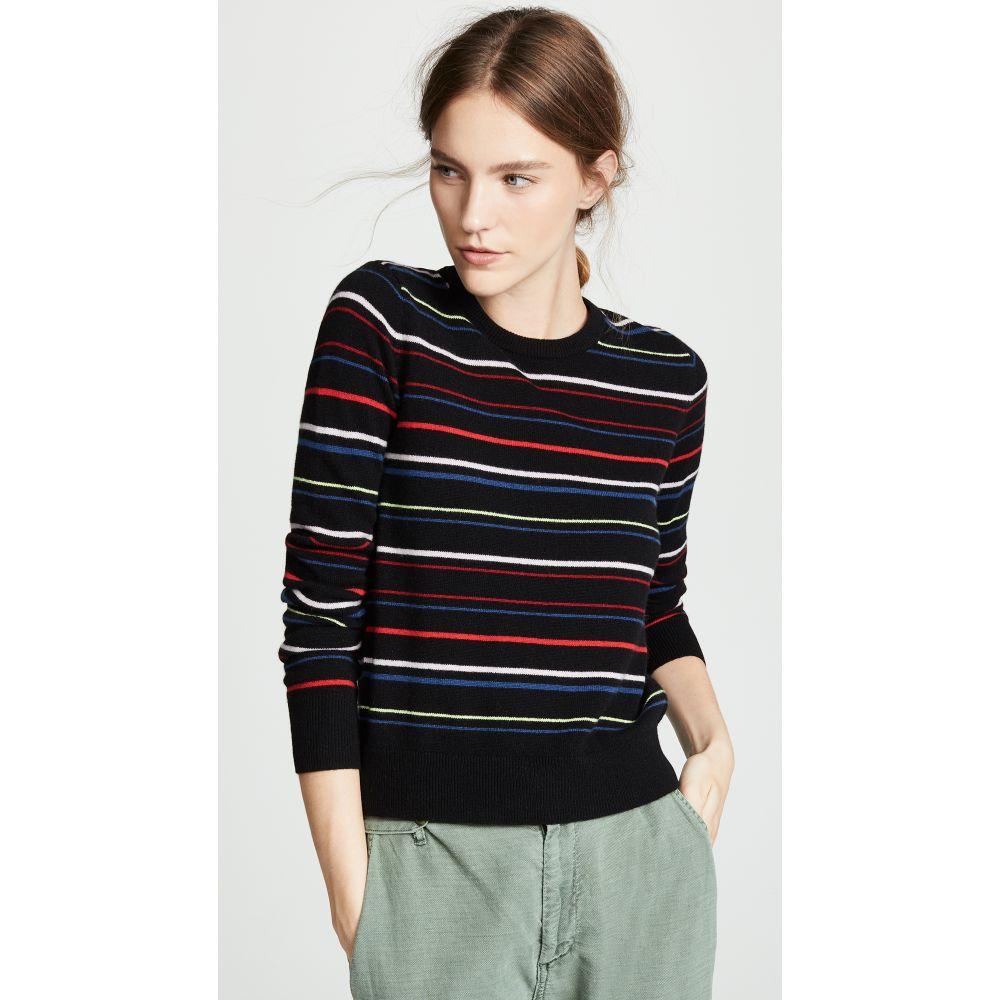 エキプモン レディース トップス ニット・セーター【Shirley Stripe Cashmere Sweater】Black Multi