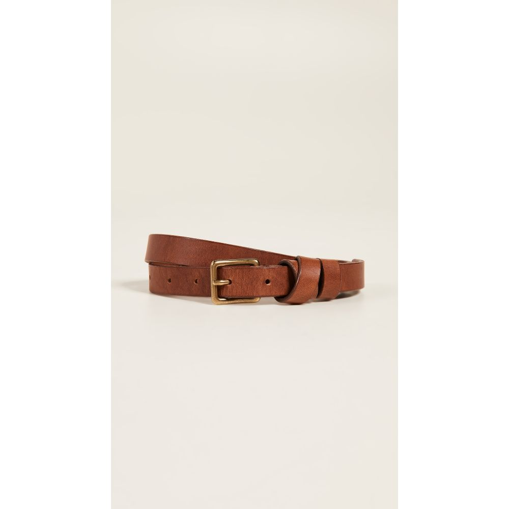 メイドウェル レディース ベルト【Leather Crisscross Skinny Belt】English Saddle