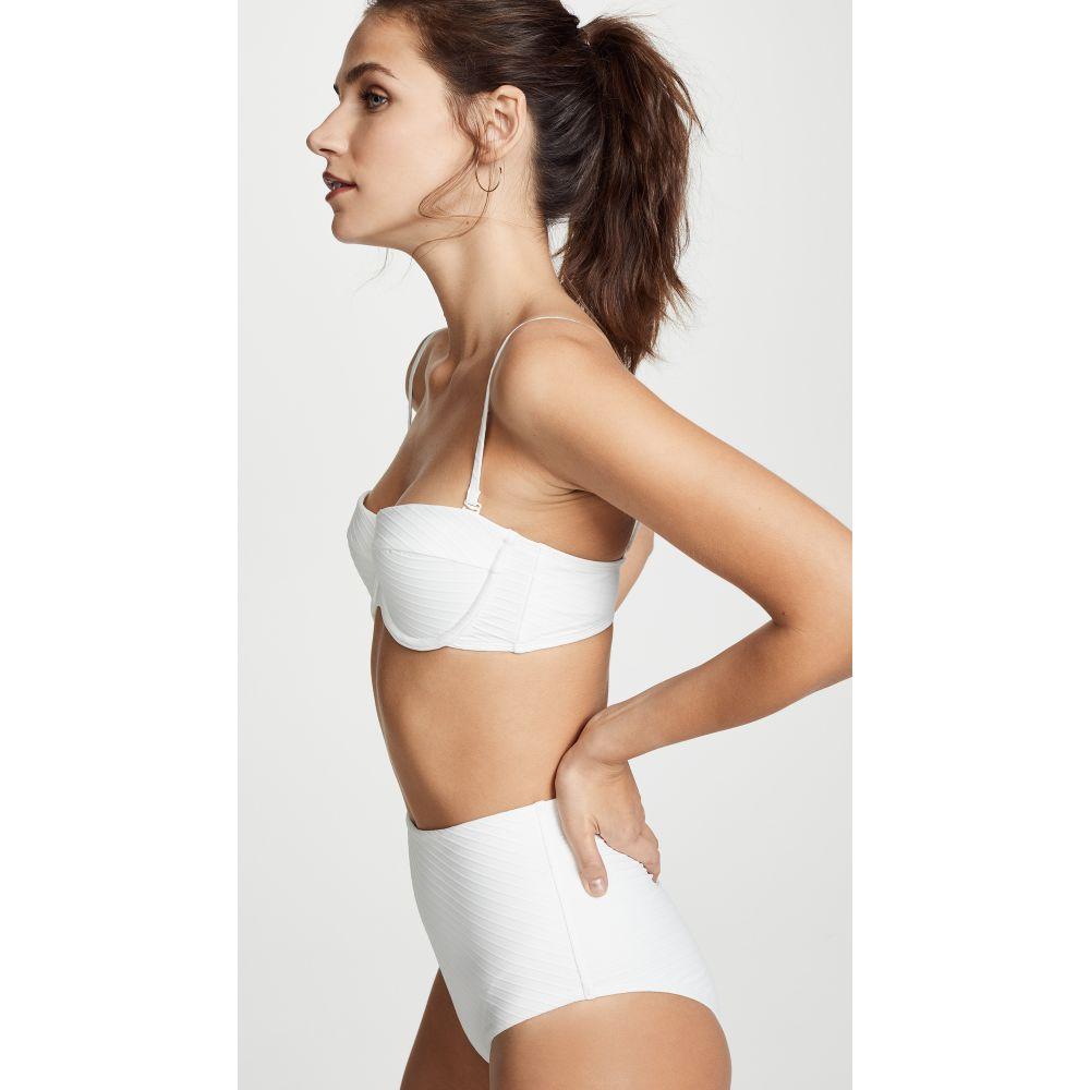ジマーマン レディース 水着・ビーチウェア トップのみ【Separates Textured Underwire Bikini Top】White