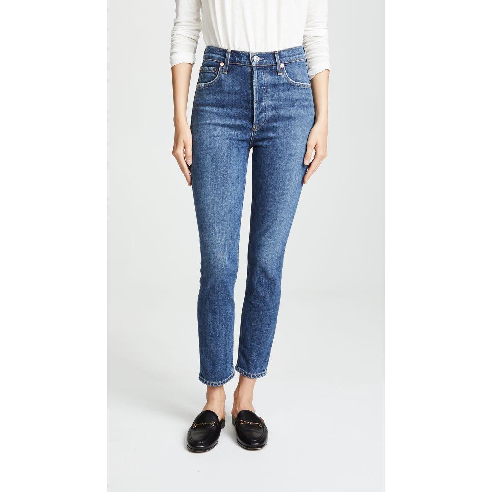 エーゴールドイー レディース ボトムス・パンツ ジーンズ・デニム【Nico High Rise Slim Fit Jeans】Subdued