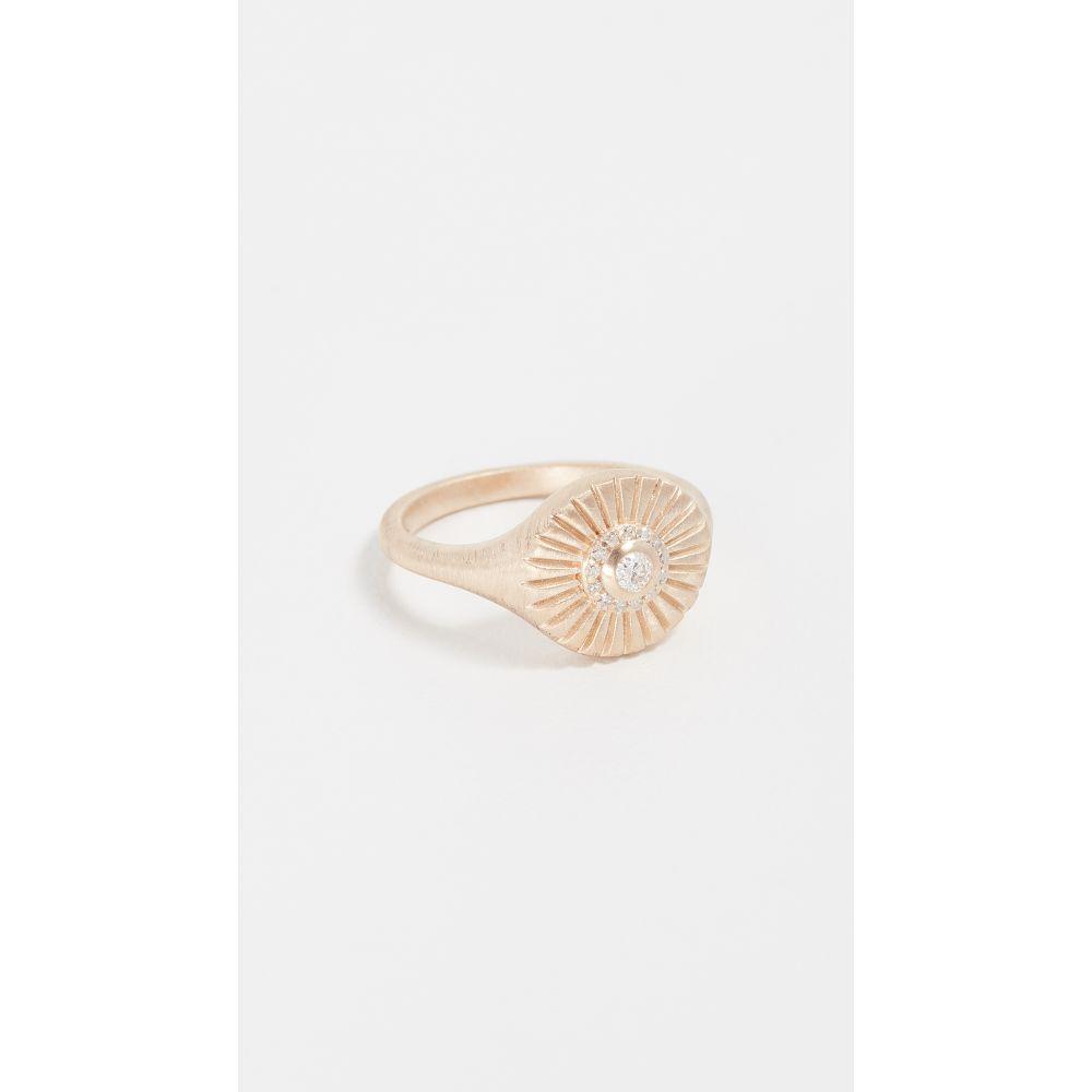 アディナ レイター レディース ジュエリー・アクセサリー 指輪・リング【14k Diamond Rays Signet Ring】Yellow Gold