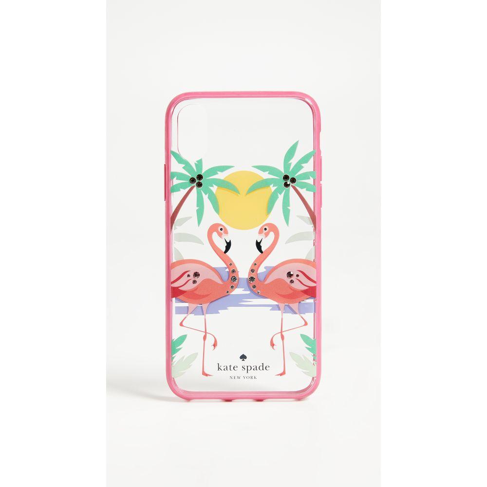 ケイト スペード レディース iPhone (X)ケース【Flamingos iPhone X Case】Clear Multi