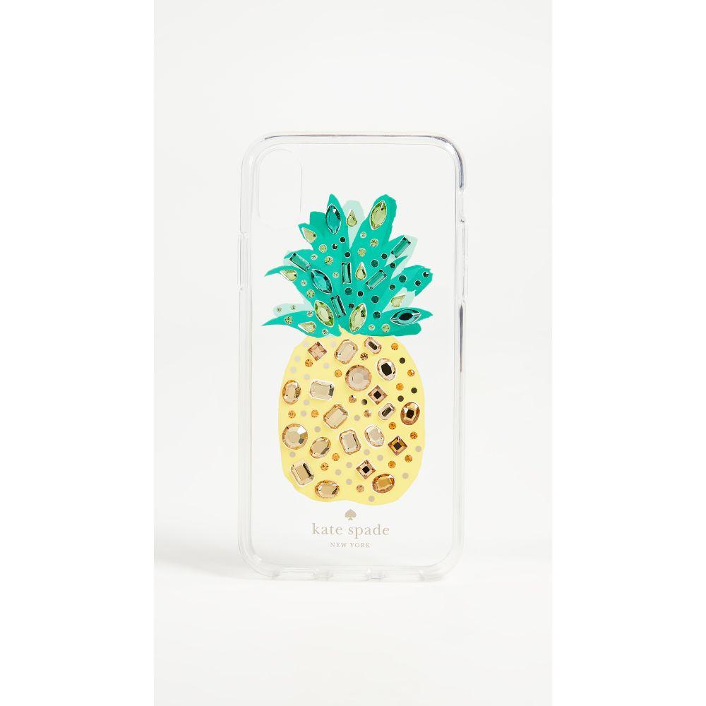 ケイト スペード レディース iPhone (X)ケース【Jeweled Pineapple iPhone X Case】Clear Multi