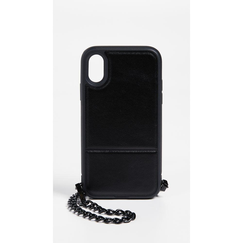 レベッカ ミンコフ レディース iPhone (X)ケース【Stashback Cross Body iPhone X Case】Metallic Black
