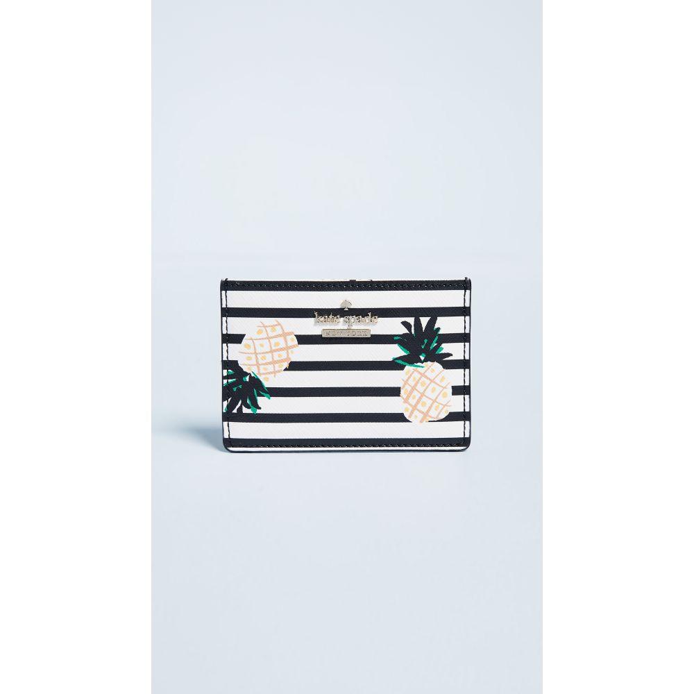 ケイト スペード レディース カードケース・名刺入れ【Cameron Street Pineapples Card Holder】Multi