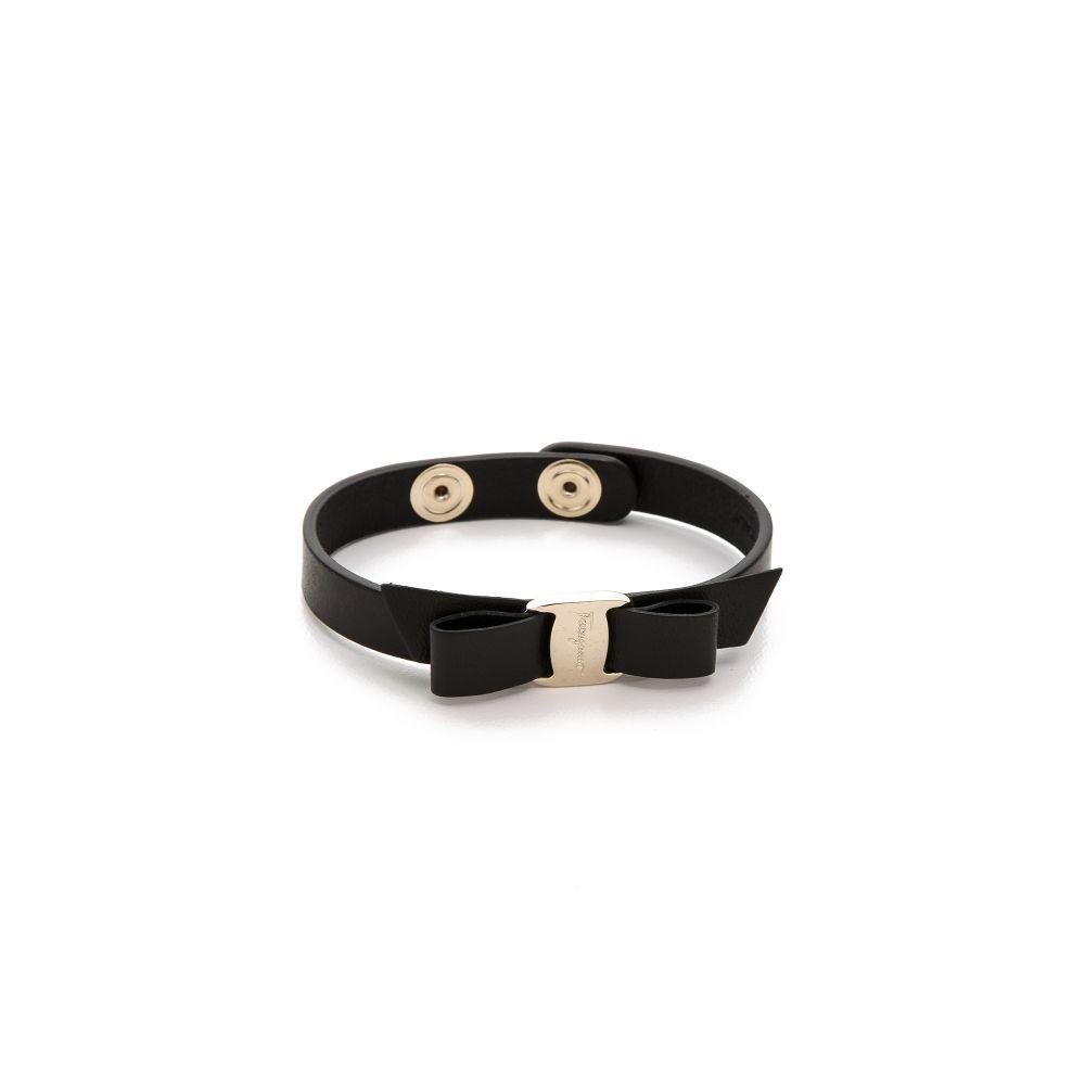 サルヴァトーレ フェラガモ Salvatore Ferragamo レディース ジュエリー・アクセサリー ブレスレット【Vara Bow Single Wrap Bracelet】Nero