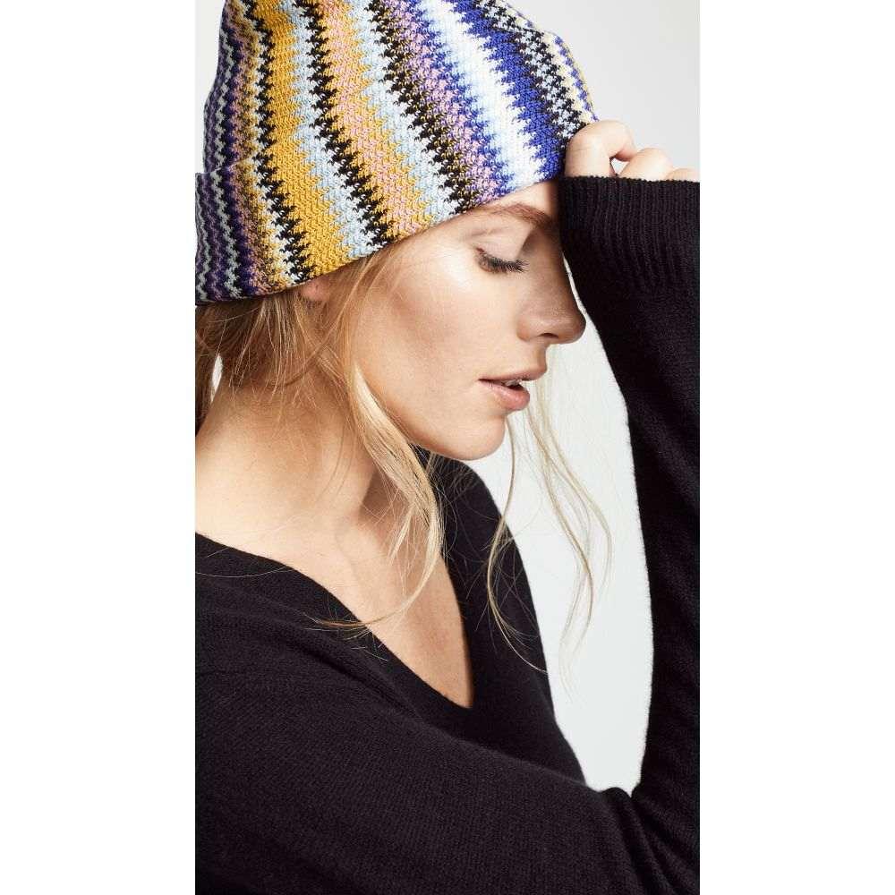 ミッソーニ Missoni レディース 帽子【Vertical Zigzag Hat】Blue/Yellow
