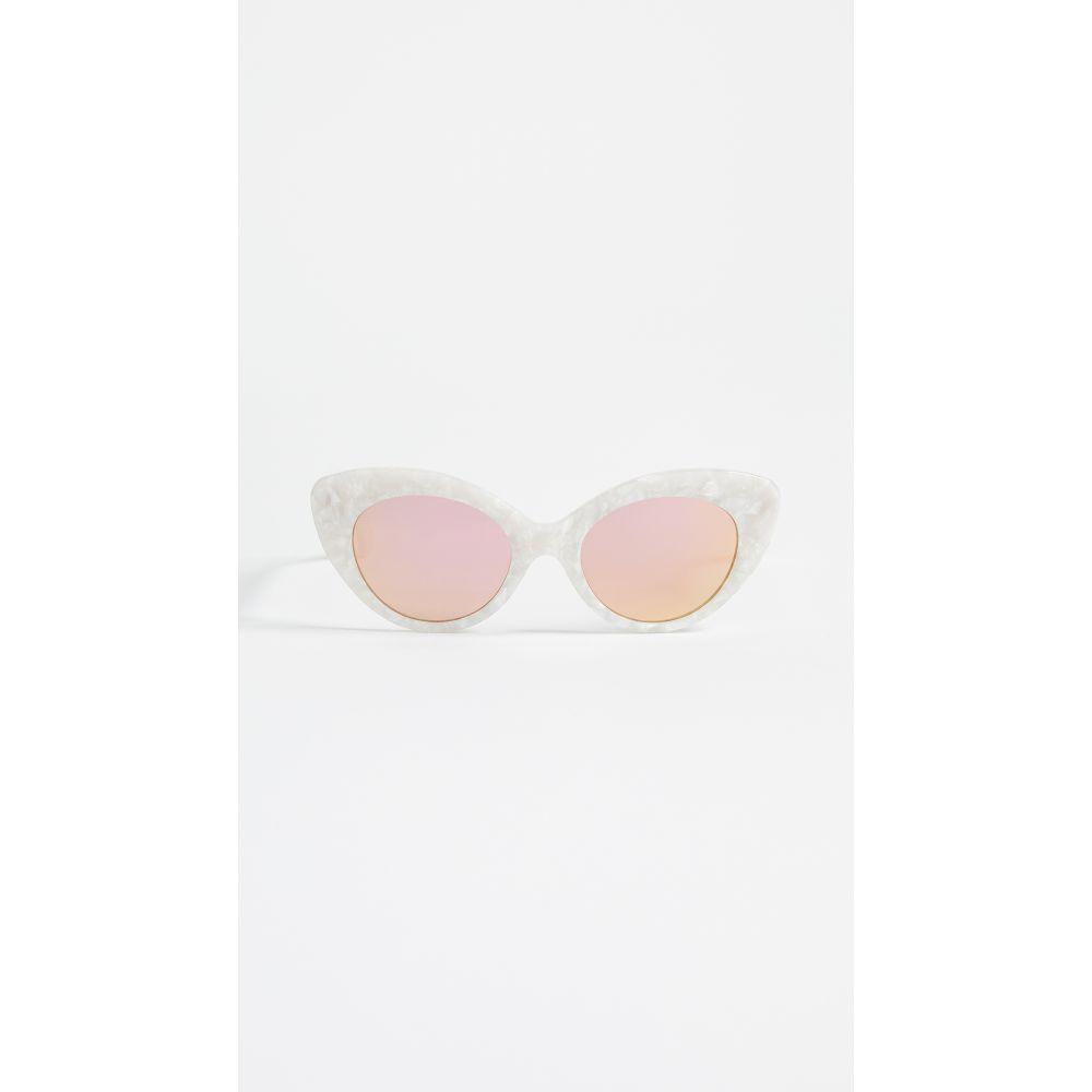 ロベリ&フラウド Roberi & Fraud レディース メガネ・サングラス【Agnes Sunglasses】White/Rose Gold