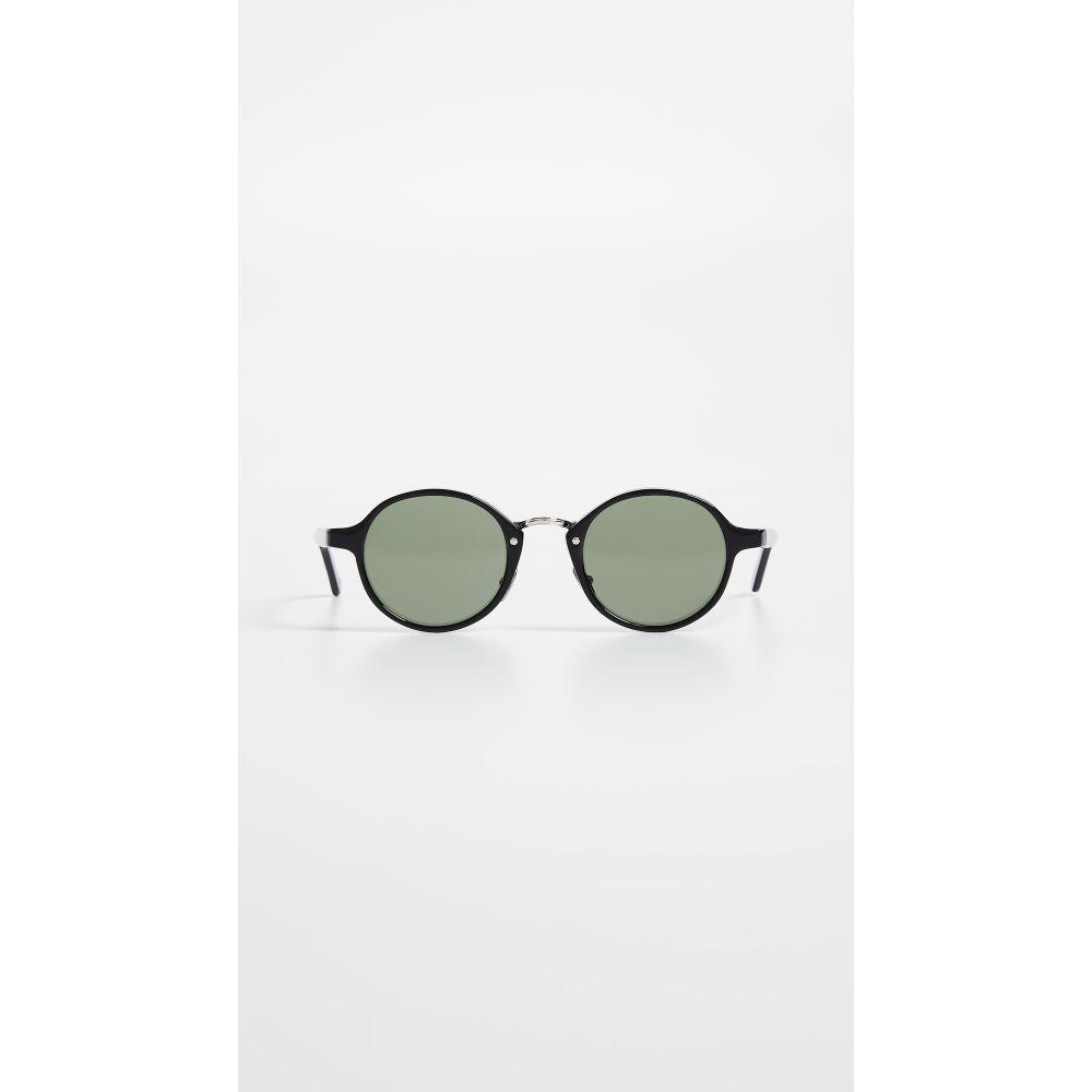 エルジーアール LGR レディース メガネ・サングラス【Reunion Combo Round Sunglasses】Black/Green