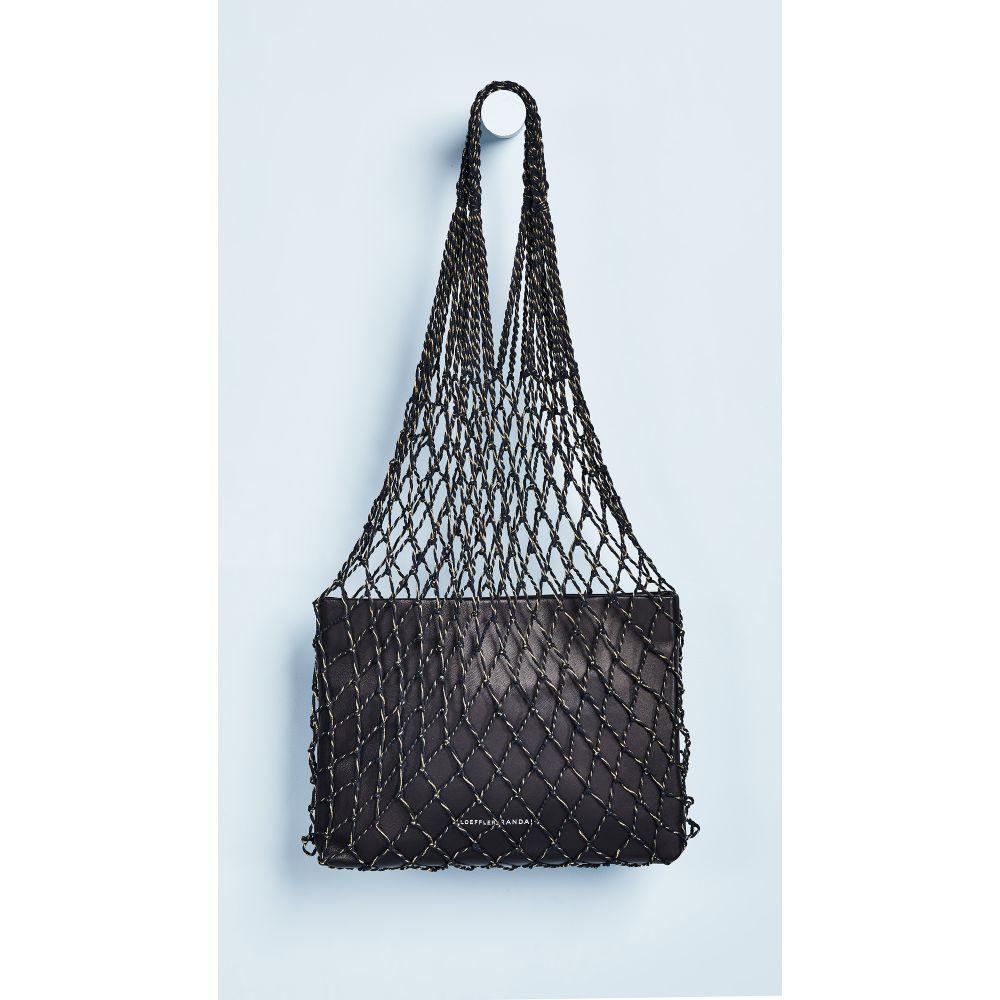 ロフラーランドール Loeffler Randall レディース バッグ トートバッグ【Adrienne Net Tote Bag】Black/Gold