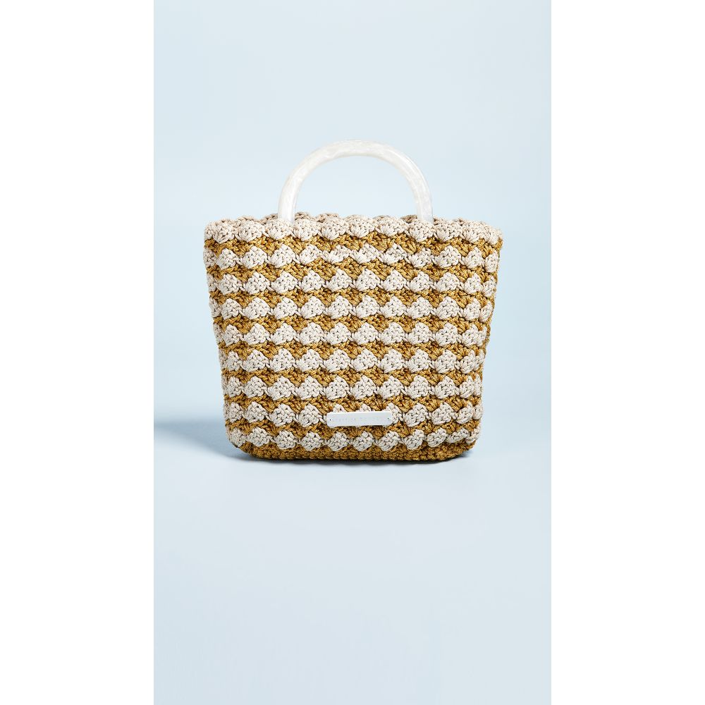 ロフラーランドール Loeffler Randall レディース バッグ トートバッグ【Audrey Crochet Tote Bag】Marigold/Cream