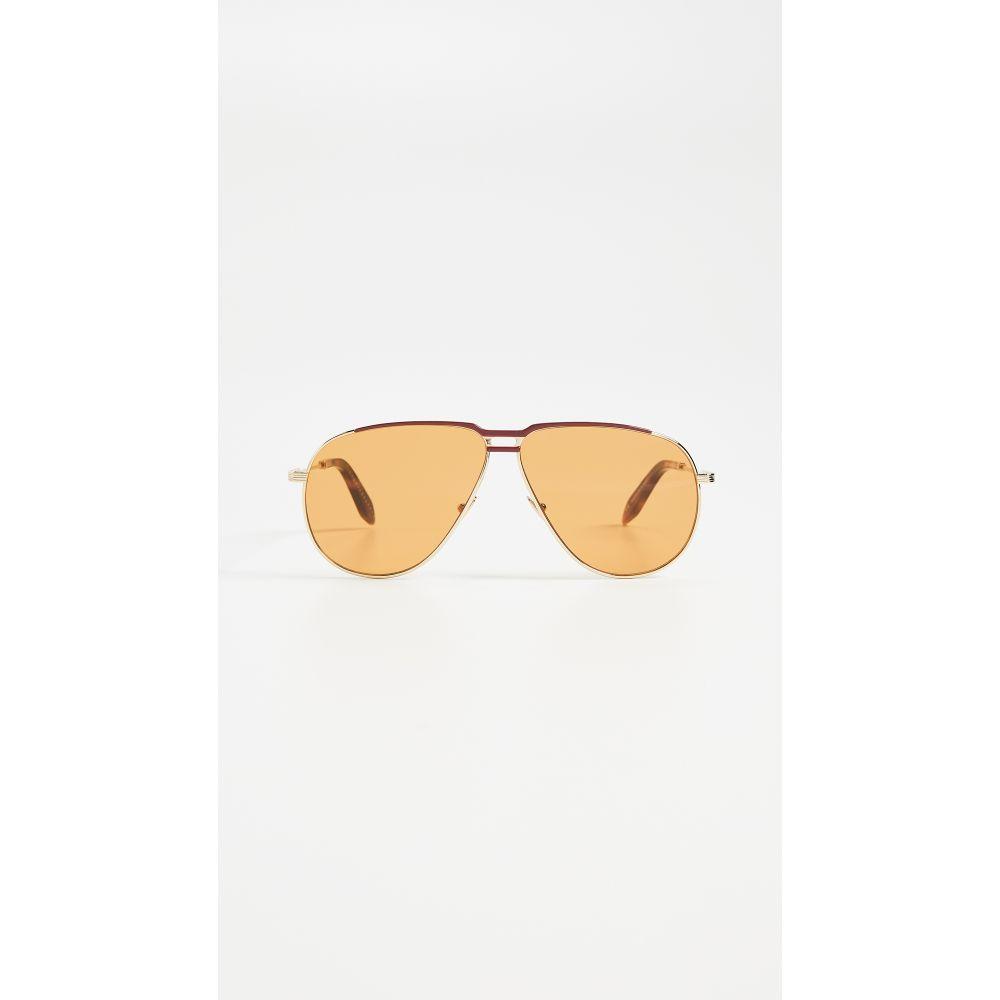 ヴィクトリア ベッカム Victoria Beckham レディース メガネ・サングラス【Jet Set Aviator Sunglasses】Caramel & Blonde Gold
