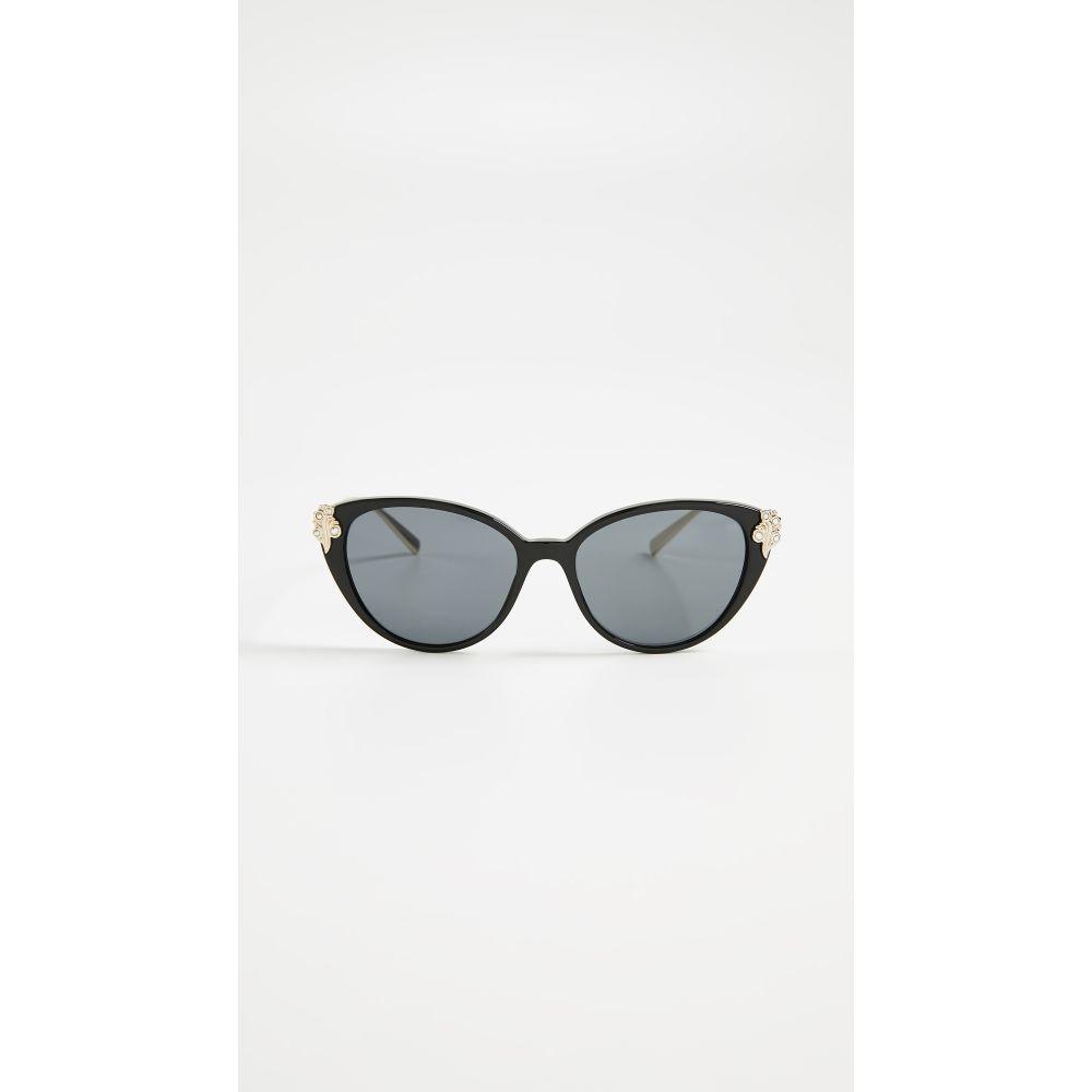 ヴェルサーチ Versace レディース メガネ・サングラス【Cat Eye Sunglasses】Black/Grey