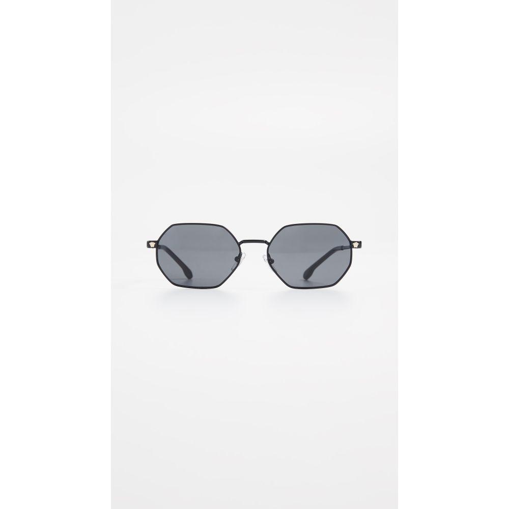ヴェルサーチ Versace レディース メガネ・サングラス【Geometric Sunglasses】Black/Grey