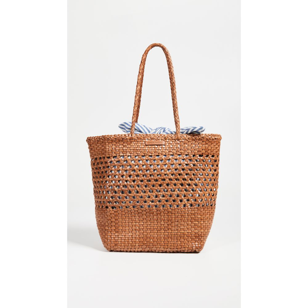 ロフラーランドール Loeffler Randall レディース バッグ トートバッグ【Maya Woven Leather Shopper Tote】Tan/Blue/Cream