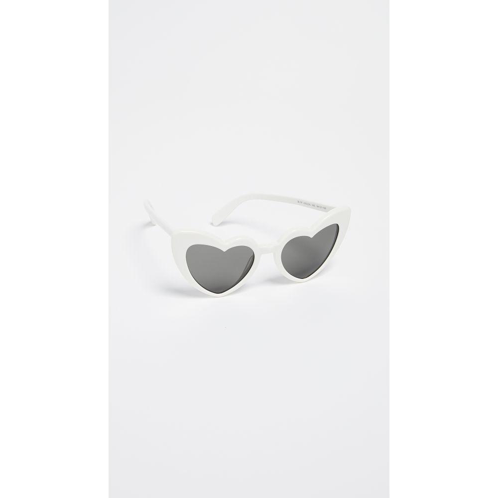イヴ サンローラン Saint Laurent レディース メガネ・サングラス【SL 181 Lou Lou Hearts Sunglasses】Ivory