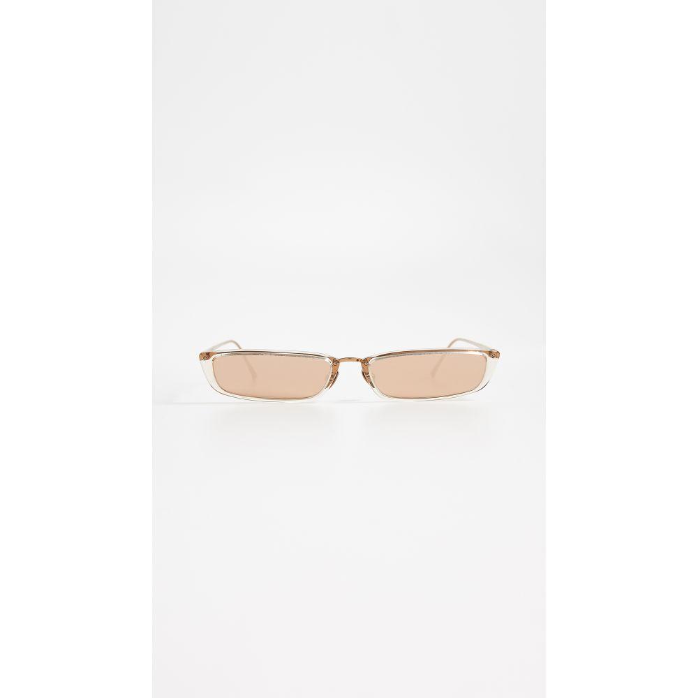 リンダ ファロー Linda Farrow Luxe レディース メガネ・サングラス【Narrow Rectangular Sunglasses】Ash/Rose Gold