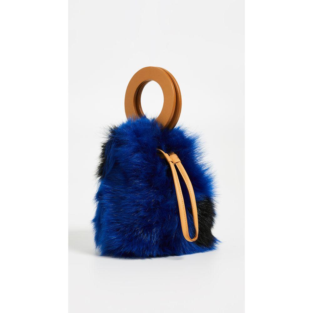 b2a1c4451b97 メゾン ボワネ Maison Boinet レディース バッグ ハンドバッグ【Small Shearling Bucket Bag】Blue  Multi/
