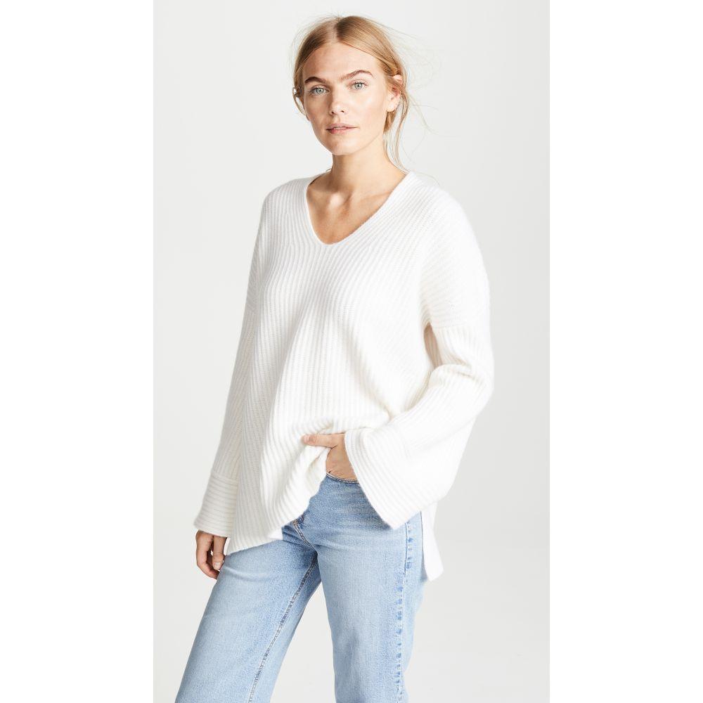 ルカシャ Le Kasha レディース トップス ニット・セーター【Nice Oversize V Neck Sweater】White