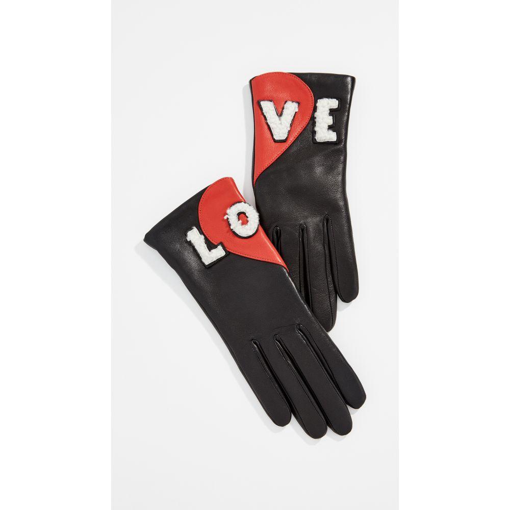 アニェル Agnelle レディース 手袋・グローブ【Love Gloves】Black/Red