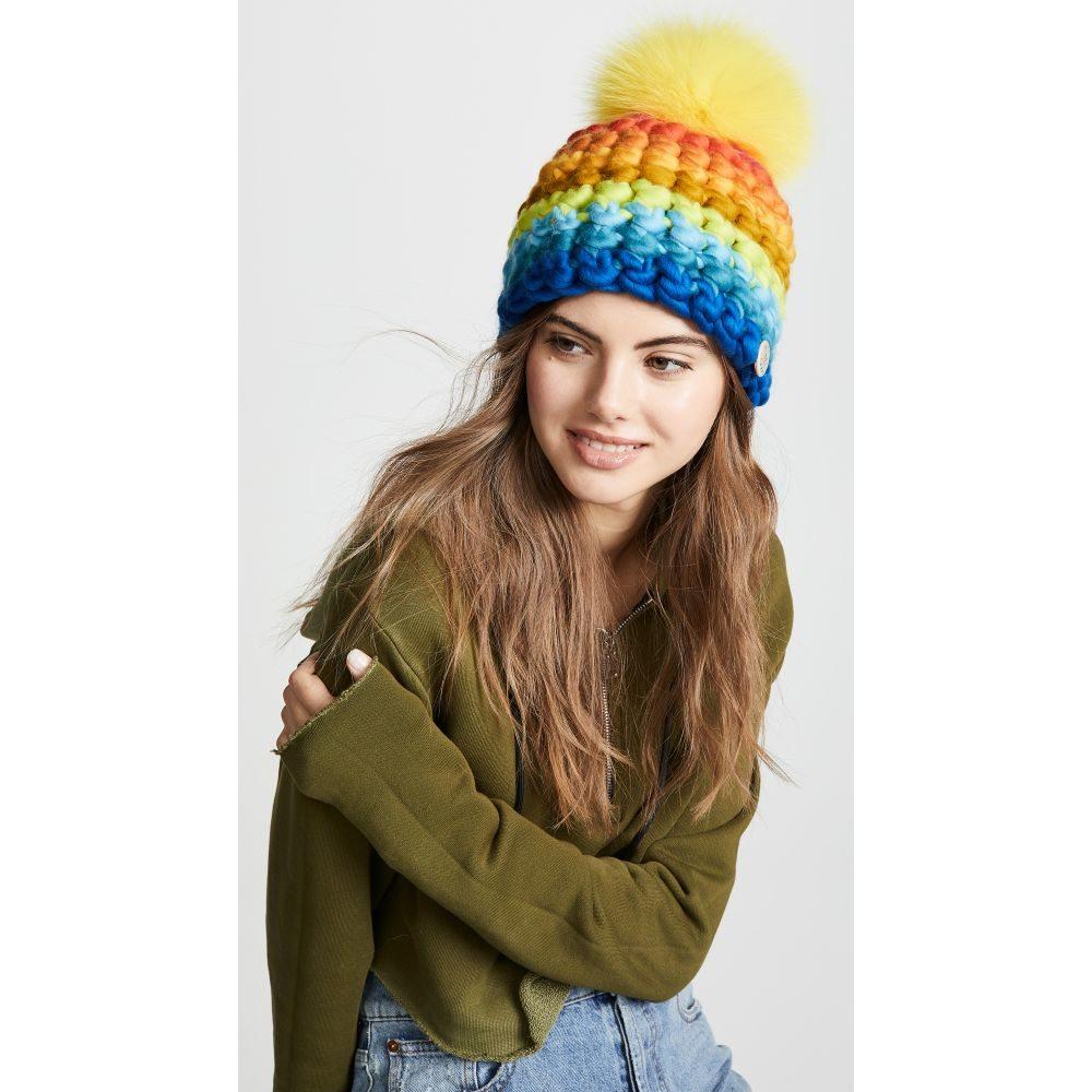 ミーシャランパート Mischa Lampert レディース 帽子 ニット【Stripe Beanie Hat】Rainbow Multi