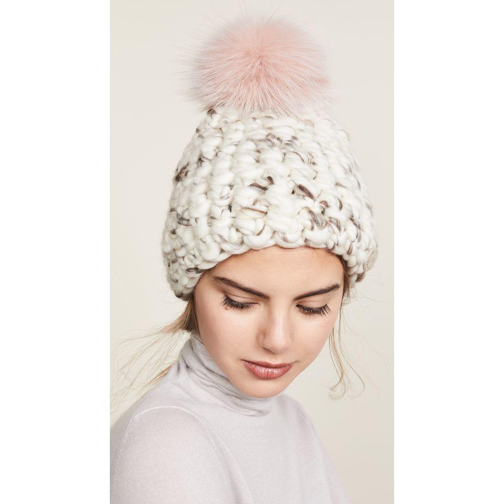ミーシャランパート Mischa Lampert レディース 帽子 ニット【Beanie Pomster Hat】White Marble/Pink