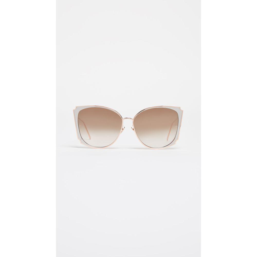 リンダ ファロー Linda Farrow Luxe レディース メガネ・サングラス【Butterfly Sunglasses】Rose Gold White/Mocha