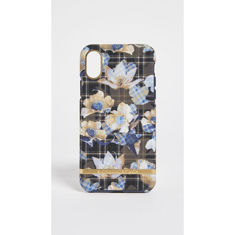 リッチモンド&フィンチ Richmond & Finch レディース iPhone (X)ケース【Floral Checked IPhone X Case】Tartan Flower Print