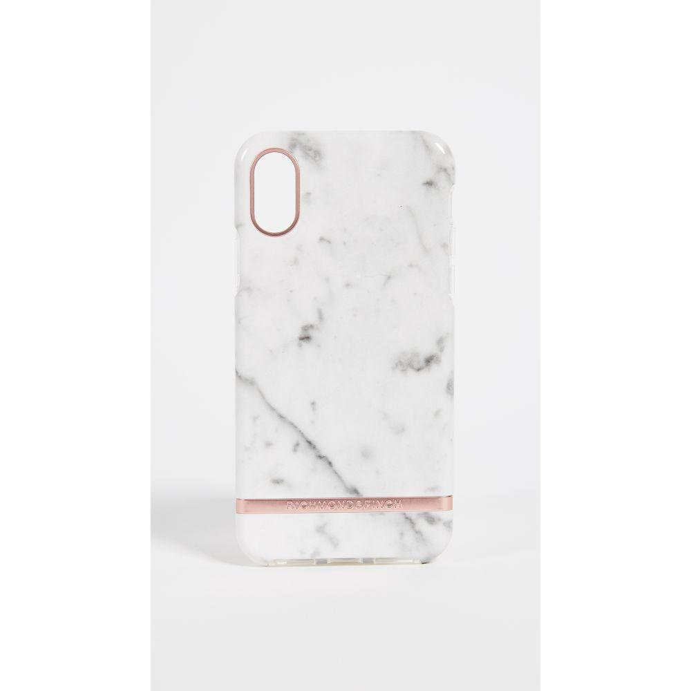 リッチモンド&フィンチ Richmond & Finch レディース iPhone (X)ケース【White Marble iPhone X Case】White Marble/Rose Gold