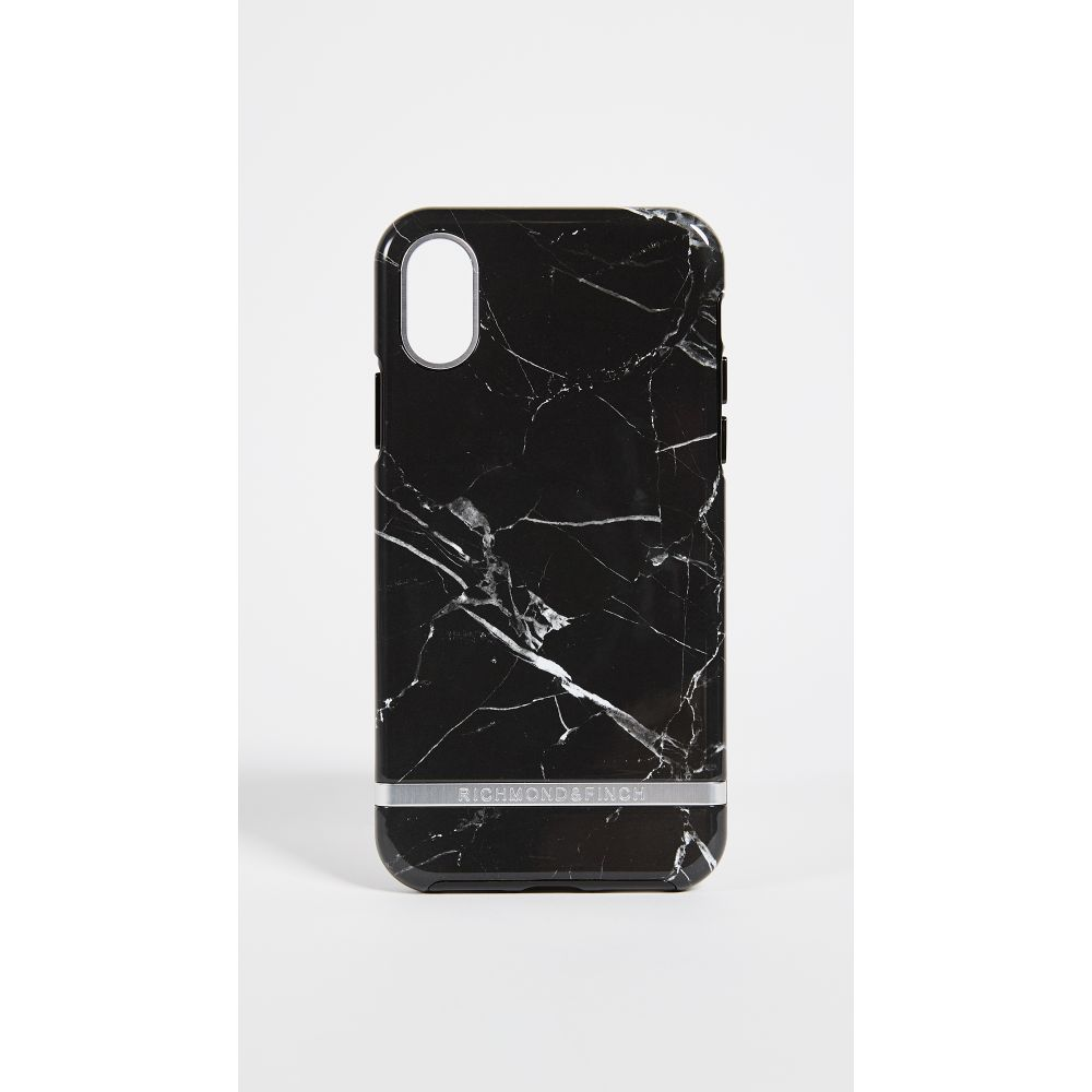 リッチモンド&フィンチ Richmond & Finch レディース iPhone (X)ケース【Black Marble iPhone X Case】Black Marble/Silver