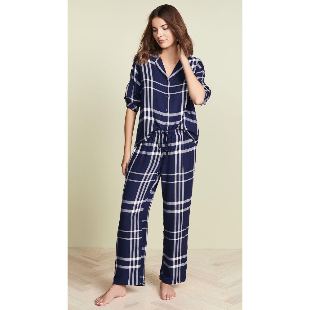 レイルズ RAILS レディース インナー・下着 パジャマ・上下セット【Long Sleeve Trouser Pajama Set】Cadet White