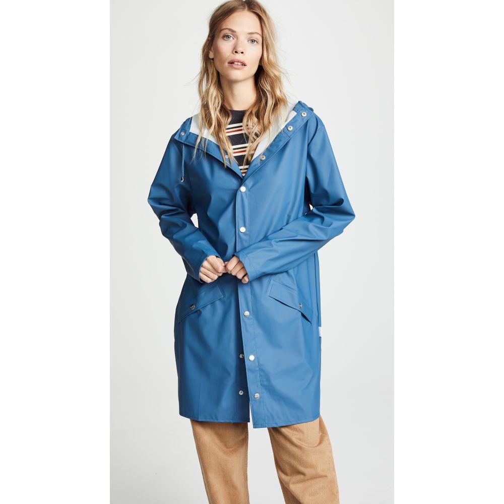 レインズ Rains レディース アウター レインコート【Long Rain Jacket】Faded Blue